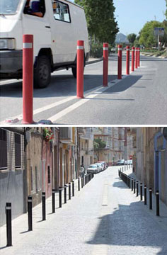 flexible bollards hight