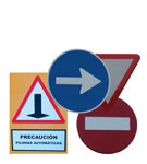 Traffic signs and street